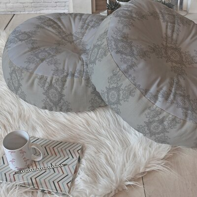 Lara Kulpa Ornamental Round Floor Pillow Size: 23 H x 23 W x 6 D
