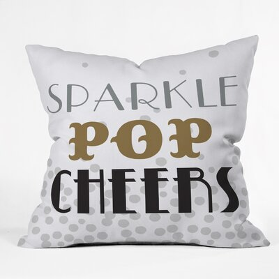 Sparkle Pop Cheers Indoor/Outdoor Throw Pillow Size: Large