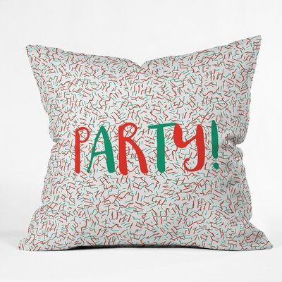 Holiday Party Indoor/Outdoor Throw Pillow Size: Small