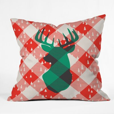 Zoe Wodarz Oh Deer Me Indoor/Outdoor Throw Pillow Size: Large