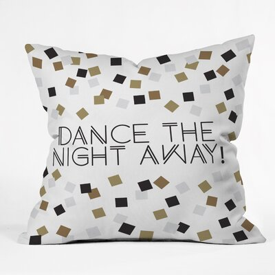 Dance The Night Away Indoor/Outdoor Throw Pillow Size: Large