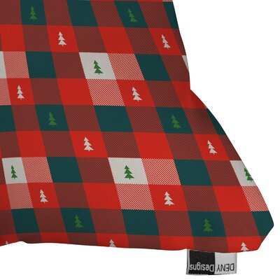 Zoe Wodarz Mini Tree Plaid Indoor/Outdoor Throw Pillow Size: Medium