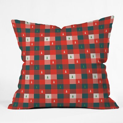 Mini Tree Plaid Indoor/Outdoor Throw Pillow Size: Small