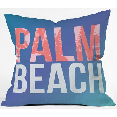 Palm Beach Retreat Polyester Throw Pillow Size: 16 H x 16 W x 4 D