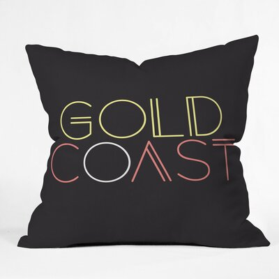 Gold Coast Road Trip Polyester Throw Pillow Size: 16