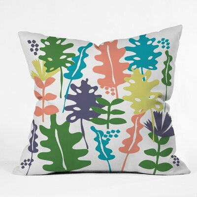 Cut Paper Spring Botanicals Polyester Throw Pillow Size: 18