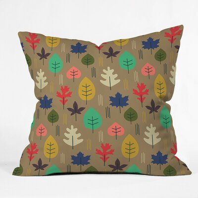 Leaf It All Behind Polyester Throw Pillow Size: 16 H x 16 W x 4 D
