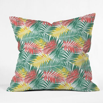 Palm Beachy Polyester Throw Pillow Size: 16 H x 16 W x 4 D