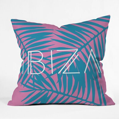 Ibiza Polyester Throw Pillow Size: 16 H x 16 W x 4 D