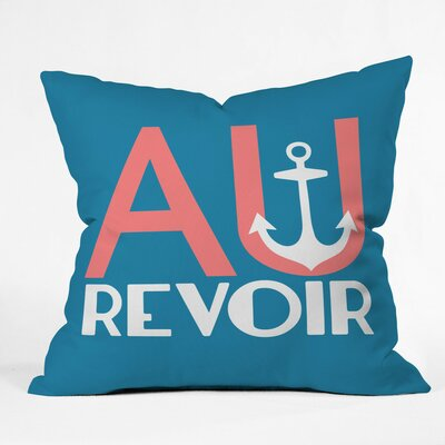 Au Revoir Adventure Polyester Throw Pillow Size: 26 H x 26 W x 7 D