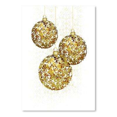"""'Lace Golden Ornaments' Graphic Art Size: 16"""" H x 12"""" W EASU8543 34140040"""