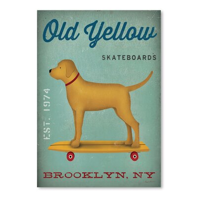 "'Golden Dog Skateboard' Vintage Advertisement Size: 16"" H x 12"" W EASU8576 34140191"