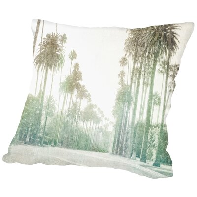 Driving In Beverly Hills Throw Pillow Size: 16