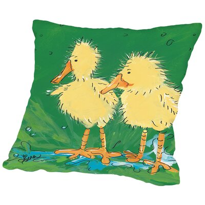 Duckling III Throw Pillow Size: 18 H x 18 W x 2 D
