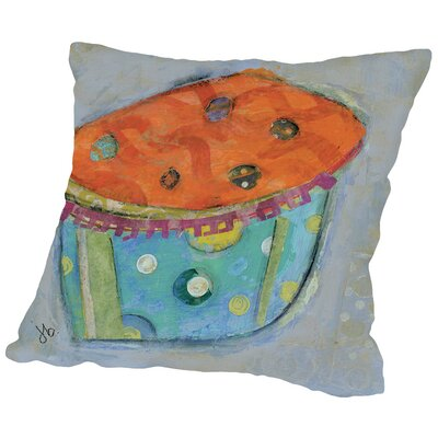 Cupcake I (Orange Icing) Throw Pillow Size: 20 H x 20 W x 2 D