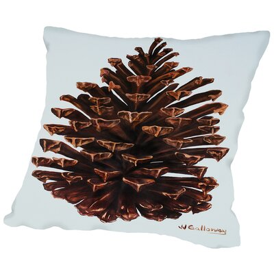 Guilded Pinecone Throw Pillow Size: 14 H x 14 W x 2 D
