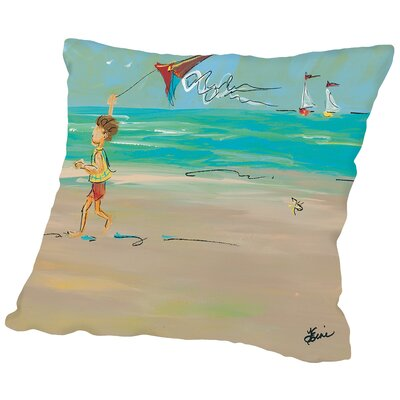 Ocean Breeze Throw Pillow Size: 16