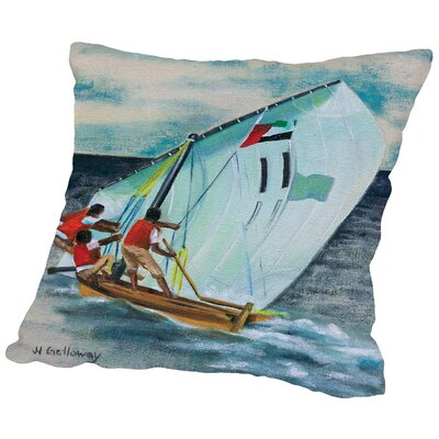 Sailing Down Throw Pillow Size: 18 H x 18 W x 2 D