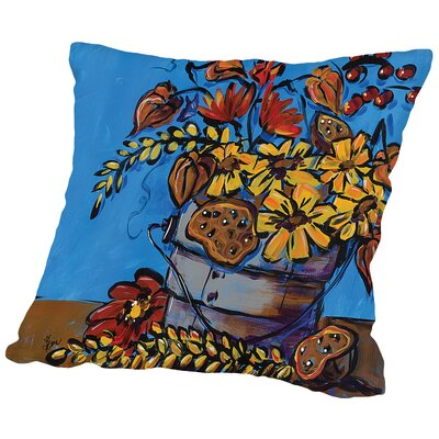 Fall Flowers Throw Pillow Size: 18 H x 18 W x 2 D