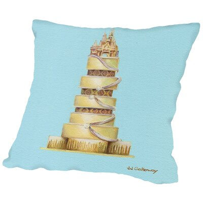 CinderellaS Cake Throw Pillow Size: 20 H x 20 W x 2 D