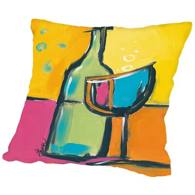 Happy Hour III Throw Pillow Size: 18 H x 18 W x 2 D