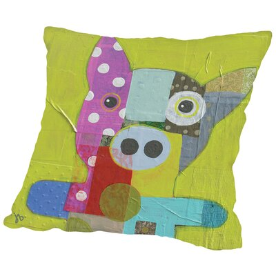 Pig Throw Pillow Size: 18 H x 18 W x 2 D