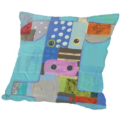 Cow Throw Pillow Size: 18 H x 18 W x 2 D