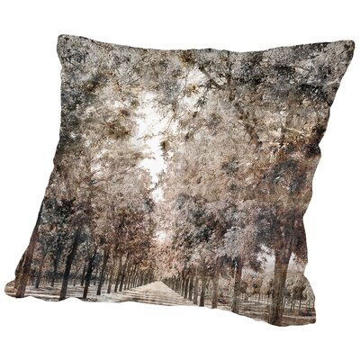 The Road to Napa Throw Pillow Size: 18 H x 18 W x 2 D