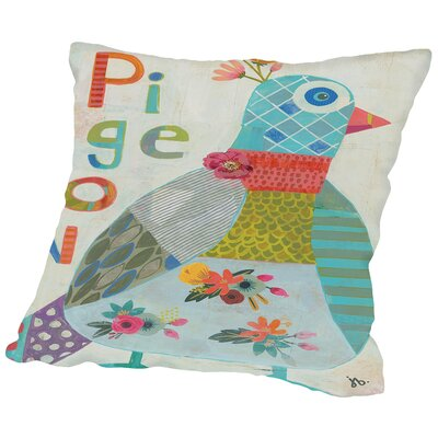 Pigeon Throw Pillow Size: 16 H x 16 W x 2 D