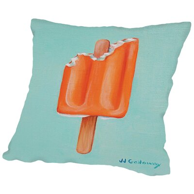 Orangesicle Throw Pillow Size: 16 H x 16 W x 2 D