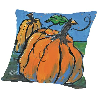 Pumpkins At Twilight Throw Pillow Size: 14 H x 14 W x 2 D