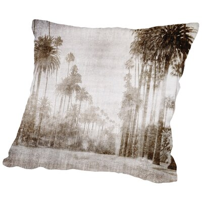 Driving In Beverly Hills - Sepia Throw Pillow Size: 20 H x 20 W x 2 D