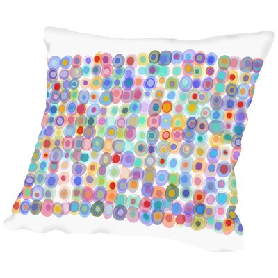 Dots a Gogo2 Throw Pillow Size: 14 H x 14 W x 2 D