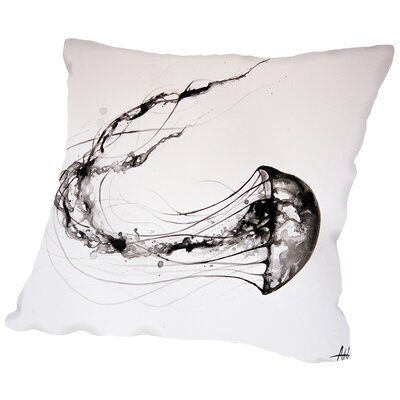 Thats No Moon (Print) Throw Pillow Size: 14 H x 14 W x 2 D