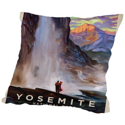 KC NP Yosemite Falls Throw Pillow Size: 14 H x 14 W x 2 D