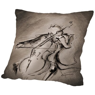 The Cellist 1 Throw Pillow Size: 18 H x 18 W x 2 D