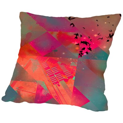 Twtyl Flyyt Throw Pillow Size: 14 H x 14 W x 2 D