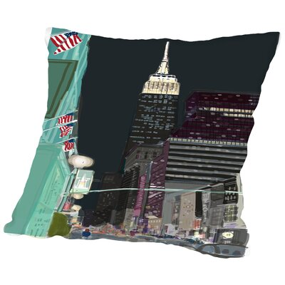 Ny 6 Throw Pillow Size: 18 H x 18 W x 2 D