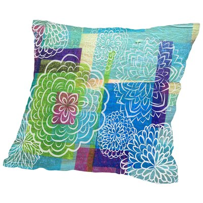 Garden on Wood Throw Pillow Size: 16 H x 16 W x 2 D