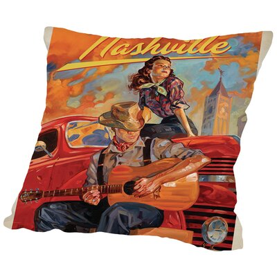 KC NashvilleDreams Throw Pillow Size: 14 H x 14 W x 2 D