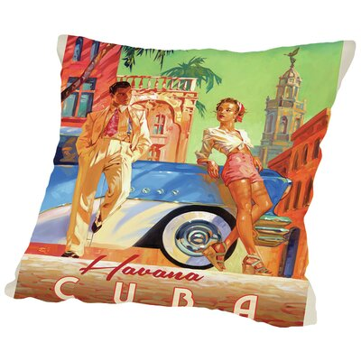 Havana Cuba Throw Pillow Size: 14 H x 14 W x 2 D