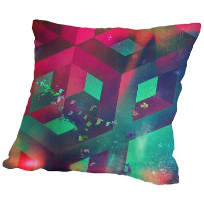 Flyypyth Throw Pillow Size: 18 H x 18 W x 2 D