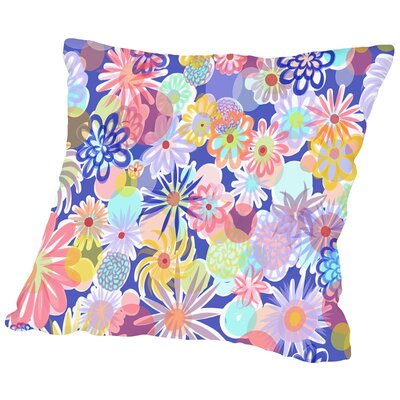 Floral Blues-1 Throw Pillow Size: 14 H x 14 W x 2 D