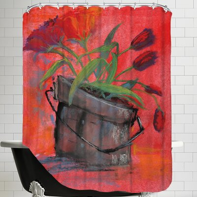 Tulip Pail Shower Curtain