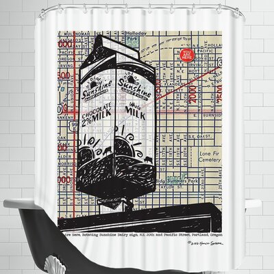 Sunshine Milk Portland Shower Curtain