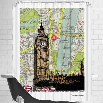 Parliament And Big Ben London Shower Curtain