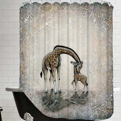 My Love for You - Giraffes Shower Curtain