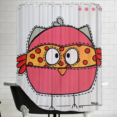 Pink Birrdz Shower Curtain
