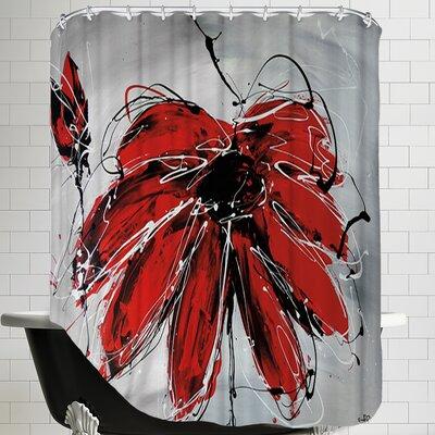 Fleur De Coeur Shower Curtain