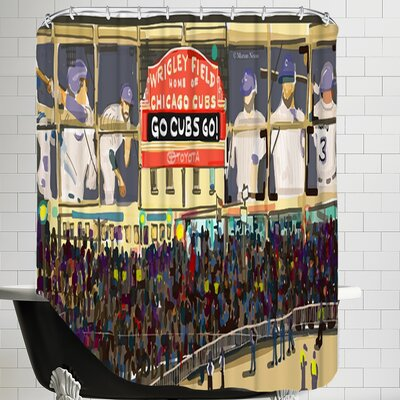 Go Cubs Shower Curtain